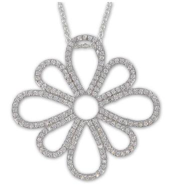 0a122bb70660 ... Sterling Silver Pierced Flower Necklace with Crystal CZ Stones!! True  Faith Jewelry Giveaway!