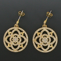 gold pave earrings